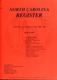 NC Register Volume 13 Issue 24 - Office of Administrative Hearings