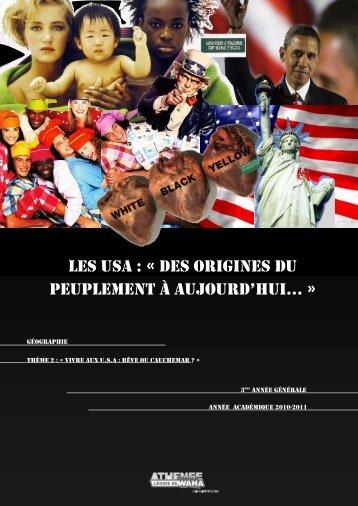 Les USA : « Des origines du peuplement à aujourd ... - Enseignons.be