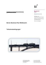 Teilnahmebedingungen - IMU - Management - Universität Bern