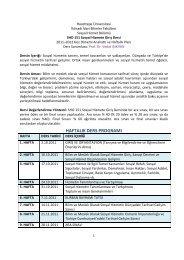 SHO 151-01.pdf - Sosyal Hizmetler - Hacettepe Üniversitesi
