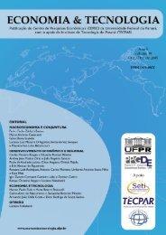 Fechar - Revista Economia & Tecnologia - Universidade Federal do ...
