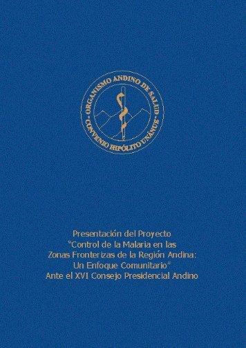 Libro Malaria .indd - Organismo Andino de Salud