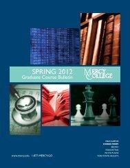 Spring 2012 Graduate Course Bulletin - Mercy College