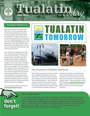 July 2013 Issue - City of Tualatin