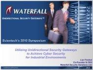 Utilizing Unidirectional Security Gateways to Achieve Cyber Security ...
