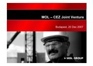 MOL – CEZ Joint Venture