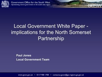 Local Government White Paper - Implications for the NSP