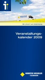 Veranstaltungs- kalender 2009 - Hubertus Wesseler