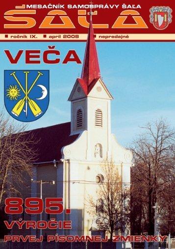 na stiahnutie (pdf - 2.6 MB) - Mesto Šaľa