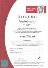 Zertifikat Sicherheitsmanagement