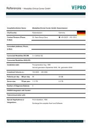 References - Westpfalz-Clinical Center GmbH - Vepro