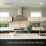 Fabrication and Installation Manual - Caesarstone