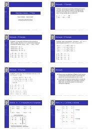 Sistemas Lineares - Laboratório de Matemática Aplicada - UFRJ