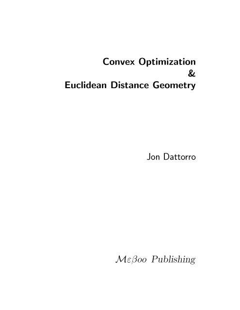 v2008.05.14 - Convex Optimization