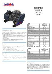 MARINER 1150T A 11.2 kVA 50 Hz - Yanmar
