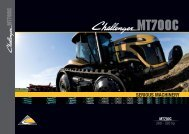 Challenger MT700C Tracked Tractor Brochure - Chandlers