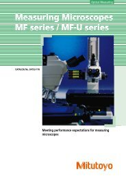 Measuring Microscopes MF series / MF-U series - Mitutoyo ...