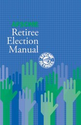 AFSCME Retiree Election ManualThis manual represents an ...