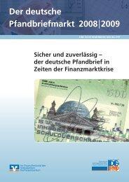 Der deutsche Pfandbriefmarkt 2008|2009 - DG Hyp