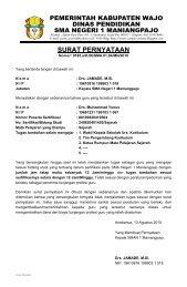 Surat Pernyataan dari Kepala Sekolah