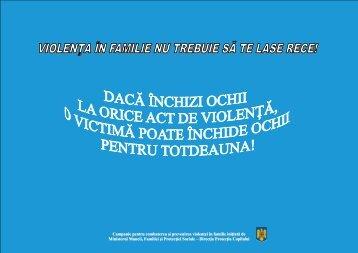Campanie pentru combaterea şi prevenirea violenţei în familie ...