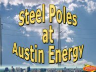Steel Poles at Austin Energy