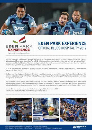 EDEN PARK EXPERIENCE - Blues