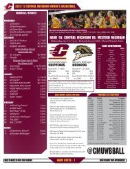 CMU Game Notes - Western Michigan University Athletics Department