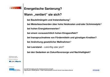 """Energetische Sanierung? Wann """"rentiert"""" sie sich? - Berliner ImpulsE"""