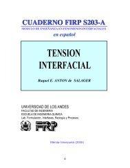 Tensión interfacial - Laboratorio FIRP - ULA