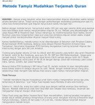 Metode Tamyiz Mudahkan Terjemah Quran - Kliping Berita