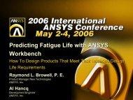 Predicting Fatigue Life with ANSYS Workbench Predicting Fatigue ...