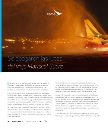 Se apagaron las luces del viejo Mariscal Sucre - Abordo.com.ec