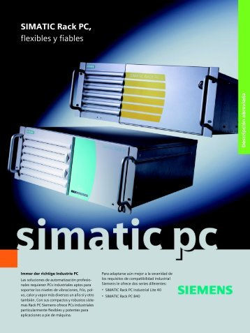 SIMATIC Rack PC - flexibles y fiables