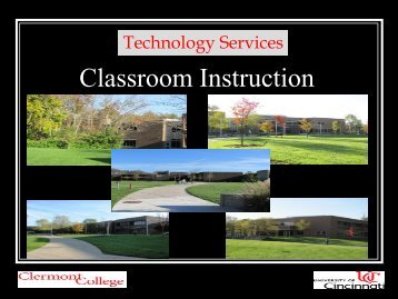 Classroom Training - Clermont College