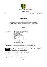 Gemeinderatssitzung vom 16.12.2010 (115 KB) - .PDF - Ehenbichl