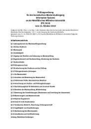 Prüfungsordnung für den konsekutiven Masterstudiengang ...