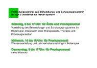 Vorstellung des Behandlungs- und Schulungsprogramms im ...