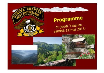pauses et haltes - HOG Geneva Chapter West Switzerland