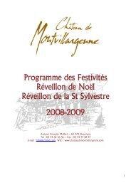 Programme des Festivités Réveillon de Noël Réveillon de la St ...