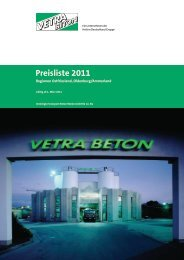 Preisliste 2011 - Vetra Beton
