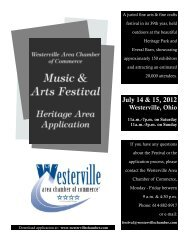 July 14 & 15, 2012 - Westerville Area Chamber of Commerce
