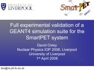 Full experimental validation of a GEANT4 ... - Nuclear Physics