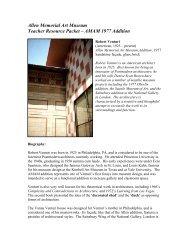 Biography, Robert Venturi: - Oberlin College