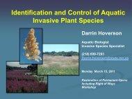 Identification and Controlling Aquatic Plant Invasive Species