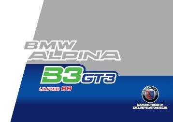 Kompletní informace BMW Alpina B3 GT3.
