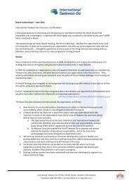 Board communique 9 - International Taekwon-do Federation of New ...