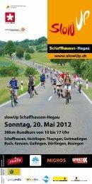 Sonntag, 20. Mai 2012 - SlowUp Schaffhausen-Hegau