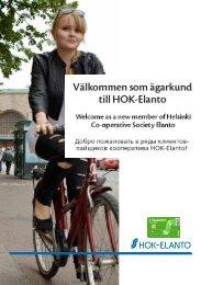 Välkommen som ägarkund till HOK-Elanto