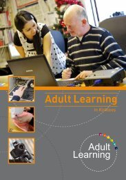 Adult Learning – Information on learning opportunities, supporting ...
